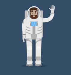 astronaut flat style vector image