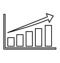 Bars stats graphic vector