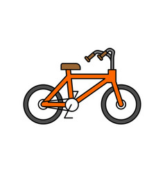 Bicycle isolated outline style bmx linear style vector