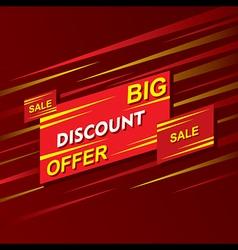 big discount offer banner design vector image