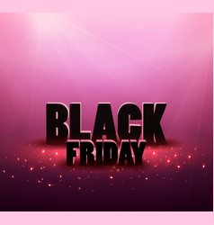 black friday sale background with red lights vector image