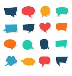 blank speech bubble paper sticker template vector image