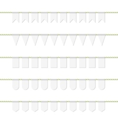 Bunting banners set vector