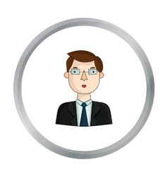 Businessman icon in cartoon style isolated on vector image