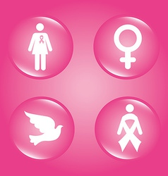 Cancer design over pink background vector image