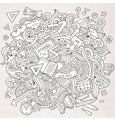 Cartoon sketchy doodles hand drawn school vector