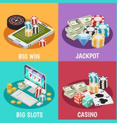 Casino 2x2 design concept vector