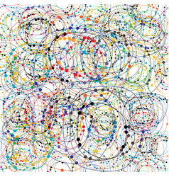 chaotic colorful seamless background with circles vector image