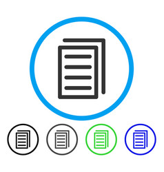 Copy document rounded icon vector