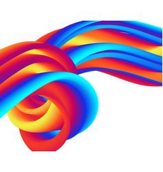 creative design 3d flow shape liquid wave vector image