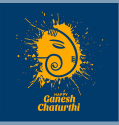 Creative ganesh chaturthi festival wishes card vector