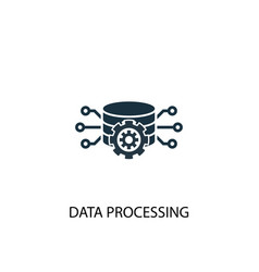 data processing icon simple element vector image