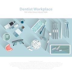 Dental care equipment symbols Teeth dentistry vector