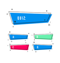 design quiz question and four answer option vector image