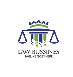 Digital technology law logo vector