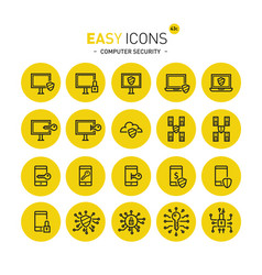Easy icons 43c computer security vector