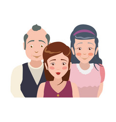 Elder parents and daughter vector