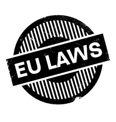 EU Laws rubber stamp vector