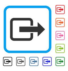 exit door framed icon vector image