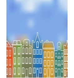 facade of the European city vector image