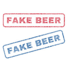 Fake beer textile stamps vector