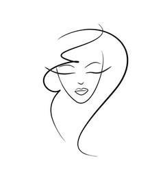 Girl face logo vector