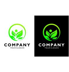 human health green leaf organic eco concept design vector image