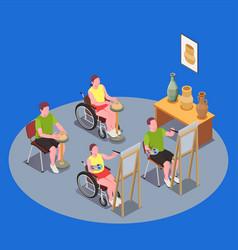 inclusive education composition vector image