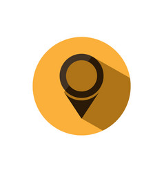 isolated location icon for maps on a yellow vector image