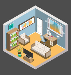 isometric room vector image