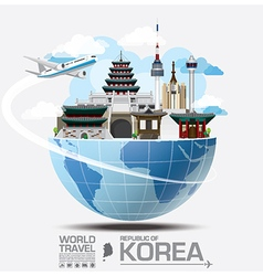 Korea Landmark Global Travel And Journey vector