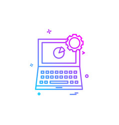 laptop icon design vector image