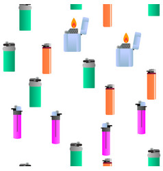 lighter icon seamless pattern vector image