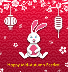 Mid autumn festival oriental wallpaper chinese vector