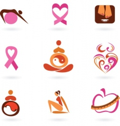 motherhood icons vector image