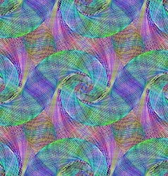 Multicolor wired abstract spiral background vector