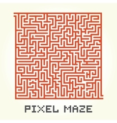 Pixel art maze isolated vector image vector image