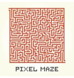 Pixel art maze isolated vector image