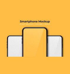 Realistic phone mockup set modern phones with vector