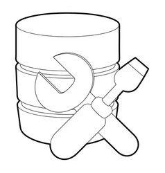 Repairing database icon outline style vector