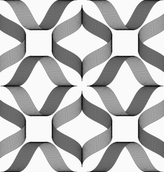 Ribbons forming rhombus pattern vector