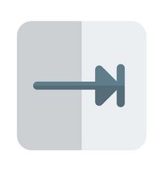 Rightwards arrow to bar symbol for tab function vector