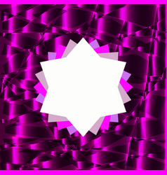 Rosette symbol on purple abstract background vector