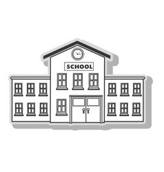 School building architecture vector