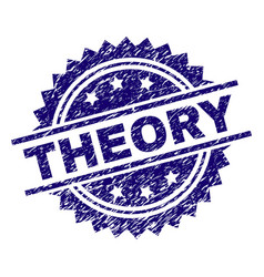 Scratched textured theory stamp seal vector