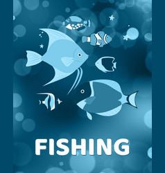 sea fish swimming underwater in ocean vector image