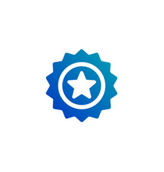 seal starbadge flat icon isolated on white vector image