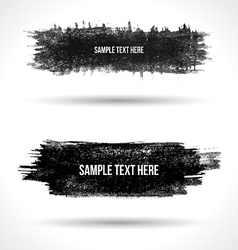 Set of grunge banners vector image