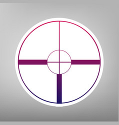 sight sign purple gradient vector image