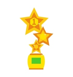 Star award cup vector image